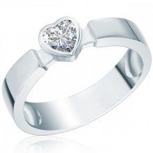 RafaelaDonata gyűrű Sterling ezüst cirkónia Fehérszívförmig gyűrű 56