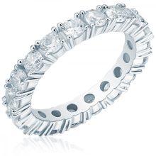 RafaelaDonata gyűrű Sterling ezüst cirkónia Fehér gyűrű 62