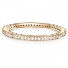 Glanzstuecke gyűrű Sterling ezüst gelbAranyozott cirkónia Fehér gyűrű 54