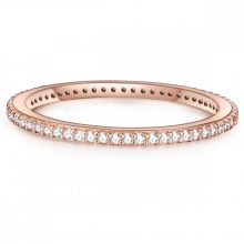 Glanzstuecke gyűrű Sterling ezüst roséAranyozott cirkónia Fehér gyűrű 48