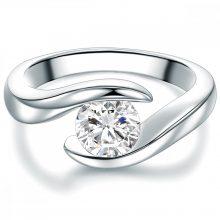 Tresor gyűrű Sterling ezüst cirkónia Fehér gyűrű 52