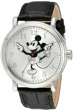 Disney férfi W001862 Mickey Mouse analóg kijelző analóg Quartz fekete óra karóra