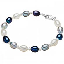ValeroGyöngys karkötő -gyöngy Fehér / világos szürke /pfauenKék