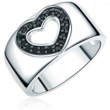 RafaelaDonata gyűrű Sterling ezüst cirkónia Feketeszívform gyűrű 54