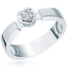 RafaelaDonata gyűrű Sterling ezüst cirkónia Fehérszívförmig gyűrű 50