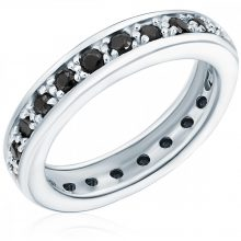 RafaelaDonata gyűrű Sterling ezüst cirkónia Fekete gyűrű 54