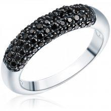 RafaelaDonata gyűrű Sterling ezüst cirkónia FeketePavéfassung gyűrű 56
