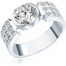 RafaelaDonata gyűrű Sterling ezüst cirkónia Fehér gyűrű 52
