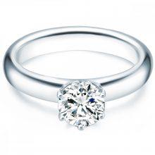 Tresor gyűrű Sterling ezüst cirkónia Fehér gyűrű 60