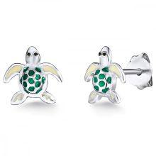 RafaelaDonata   Schildkröte Sterling ezüst Emaille Zöld