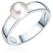 ValeroGyöngys gyűrű Sterling ezüst Süßwasser-ZuchtGyöngy Fehér gyűrű 54