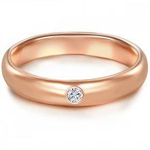 Tresor gyűrű Sterling ezüst  rosegold vörösarny Aranyozott cirkónia Fehér gyűrű 50