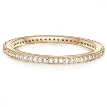 Glanzstuecke gyűrű Sterling ezüst gelbAranyozott cirkónia Fehér gyűrű 50
