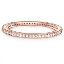 Glanzstuecke gyűrű Sterling ezüst roséAranyozott cirkónia Fehér gyűrű 56
