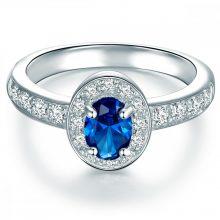 Tresor gyűrű Sterling ezüst cirkónia Kék gyűrű 58