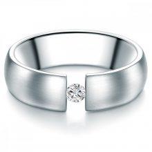 Tresor gyűrű nemesacél MADE val SWAROVSKI