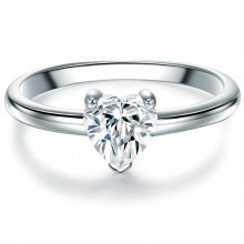 Tresor gyűrű Sterling ezüst cirkónia Fehér gyűrű 54