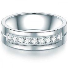 Tresor gyűrű nemesacél cirkónia Fehér gyűrű 56