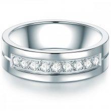 Tresor gyűrű nemesacél cirkónia Fehér gyűrű 60