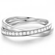 Glanzstuecke gyűrű Sterling ezüst gyűrű 52