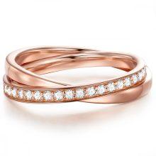 Glanzstuecke gyűrű Sterling ezüst roséAranyozott gyűrű 50