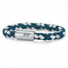 Skipper & Son Segeltau karkötő nemesacél ezüst/Kék gemintat Hossz: 24 cm