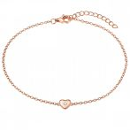 RafaelaDonata karkötő Sterling ezüst rosearanyArany cirkónia fehér