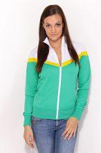 Nike női zöld-sárga-fehér pulóver XS/34