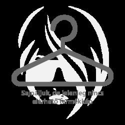 Akzent nemesacél Karika fülbevaló ékszercirkónia köves, IP fekete, ezüst