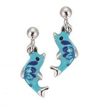 Scout Gyerek fülbevaló ékszer Ohrstecher ezüst Delphin tĂźrkis Kék Mädchen 262036100