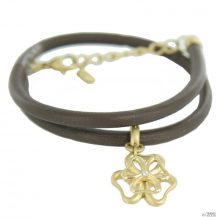 Skagen Női karkötő bőr kétreihig arany Blume JBG0019