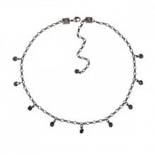Konplott Lánc Collier Tutui Collection Szürke Fekete diamant ezüst