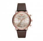 ARMANI férfi barna Quartz óra karóra AR11106