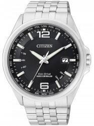 Citizen Eco-Drive elegáns CB0010-88E 4-Zonen Funkuhr 43 mm 100M  óra karóra