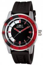 Invicta férfi 12845 Specialty fekete számlap óra karóra val piros/feketekeret