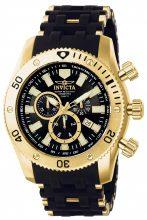 Invicta férfi 0140 Sea pók Collection 18k arany  és fekete  óra karóra