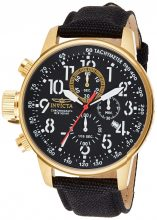 Invicta férfi 1515 I Force Collection 18k gold ion-plated színű óra karóra val fekete Cloth-Covepirosszíj