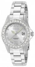 Invicta női 15251 Pro Diver ezüst számlap köves jelölők nemesacél óra karóra