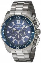 Invicta férfi 'Pro Diver' Quartz nemesacél casual óra karóra, szín ezüst-d (Model: 21953)