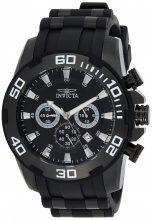 Invicta férfi 'Pro Diver' Quartz nemesacél és szilikon casual óra karóra, szín:fekete(Model: 22338)