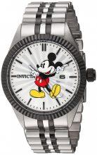 Invicta férfi 'Disney limitált kiadás' Quartz nemesacél alkalmi óra karóra, szín:két tónusú (Model: 22773)