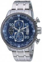 Invicta férfi 'pilóta' Quartz nemesacél casual óra karóra, szín:ezüst-d (Model: 22970)