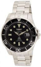 Invicta férfi 3044 neasztalcél nagy Diver automata óra karóra, ezüst/fekete
