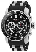 Invicta férfi 'Pro Diver' Swiss Quartz neasztalcél és  Diving óra karóra, szín:fekete(Model: 6977