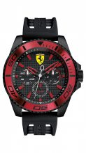 Scuderia Ferrari férfi 'XX KERS' Quartz nemesacél és szilikon alkalmi óra karóra, szín:fekete(Model: 0830310)