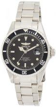 Invicta férfi 8932OB Pro Diver analóg Quartz ezüst; számlap szín - fekete nemesacél óra karóra