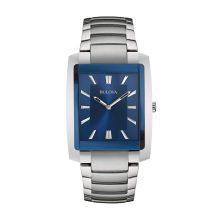 Bulova férfi Quartz neasztalcél ruha óra karóra, szín:ezüst- (Model: 96A169)