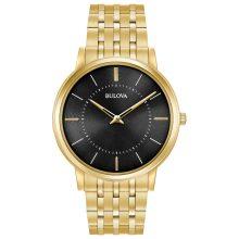 Bulova férfi 40mm klasszikus Ultra-vékony nemesacél arany színű  Karkötő óra karóra