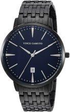 Vince Camuto férfi VC/1074NVTI dátumfunkció számlap fekete Karkötő óra karóra