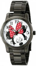 Disney Unisex W001843 Minnie Mouse analóg kijelző analóg Quartz fekete óra karóra
